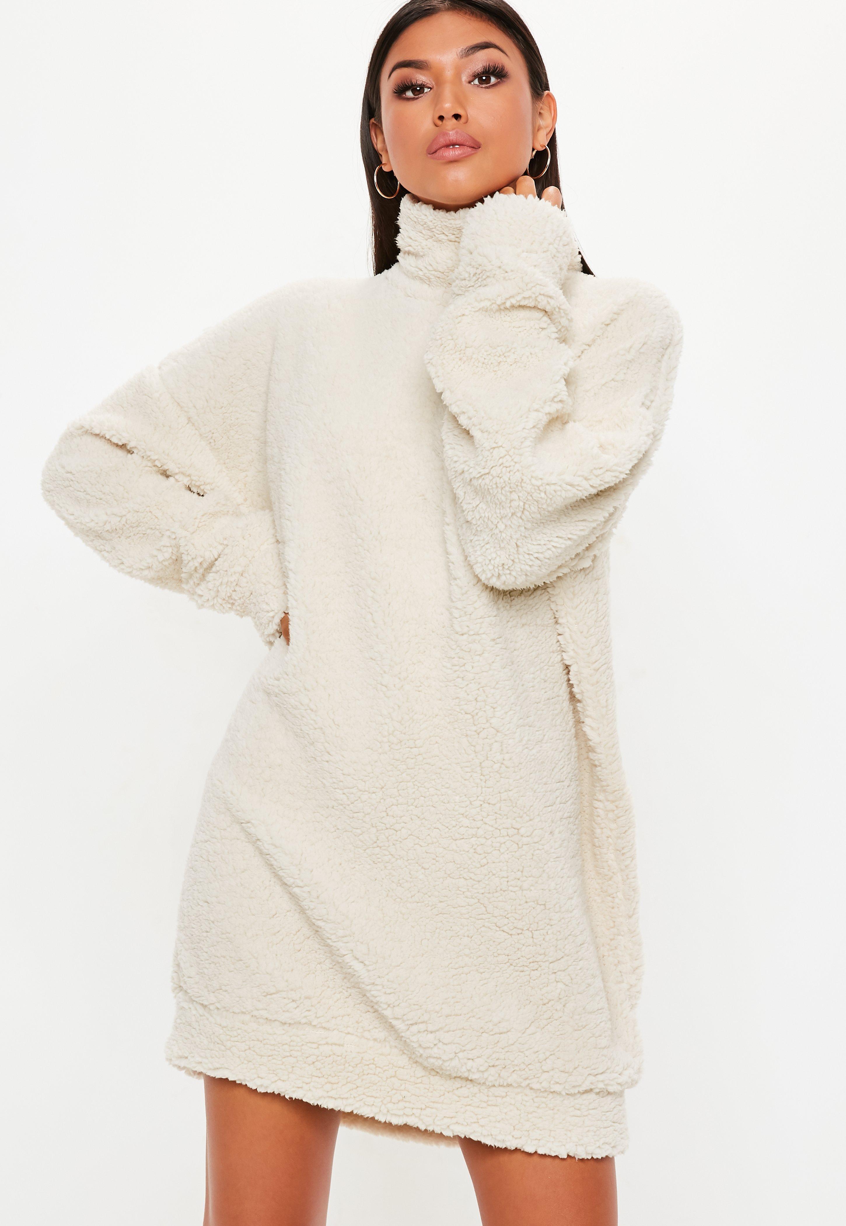 Crème Oversize Robe En Robe Crème Oversize Moumoute vm8wNn0