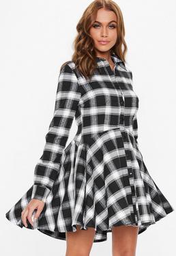 60623c5d8cb93 Black Dresses · Pleated Skirts · Check Dresses
