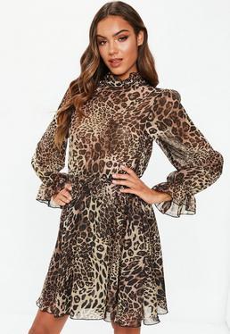 7f6c41f2b3 Leopard Print Shorts. Smock Dresses