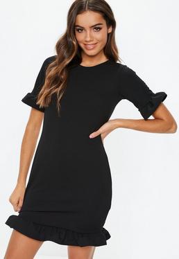 Свободное платье с короткими рукавами