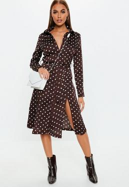Plunge Dresses V Neck Low Cut Dresses Missguided