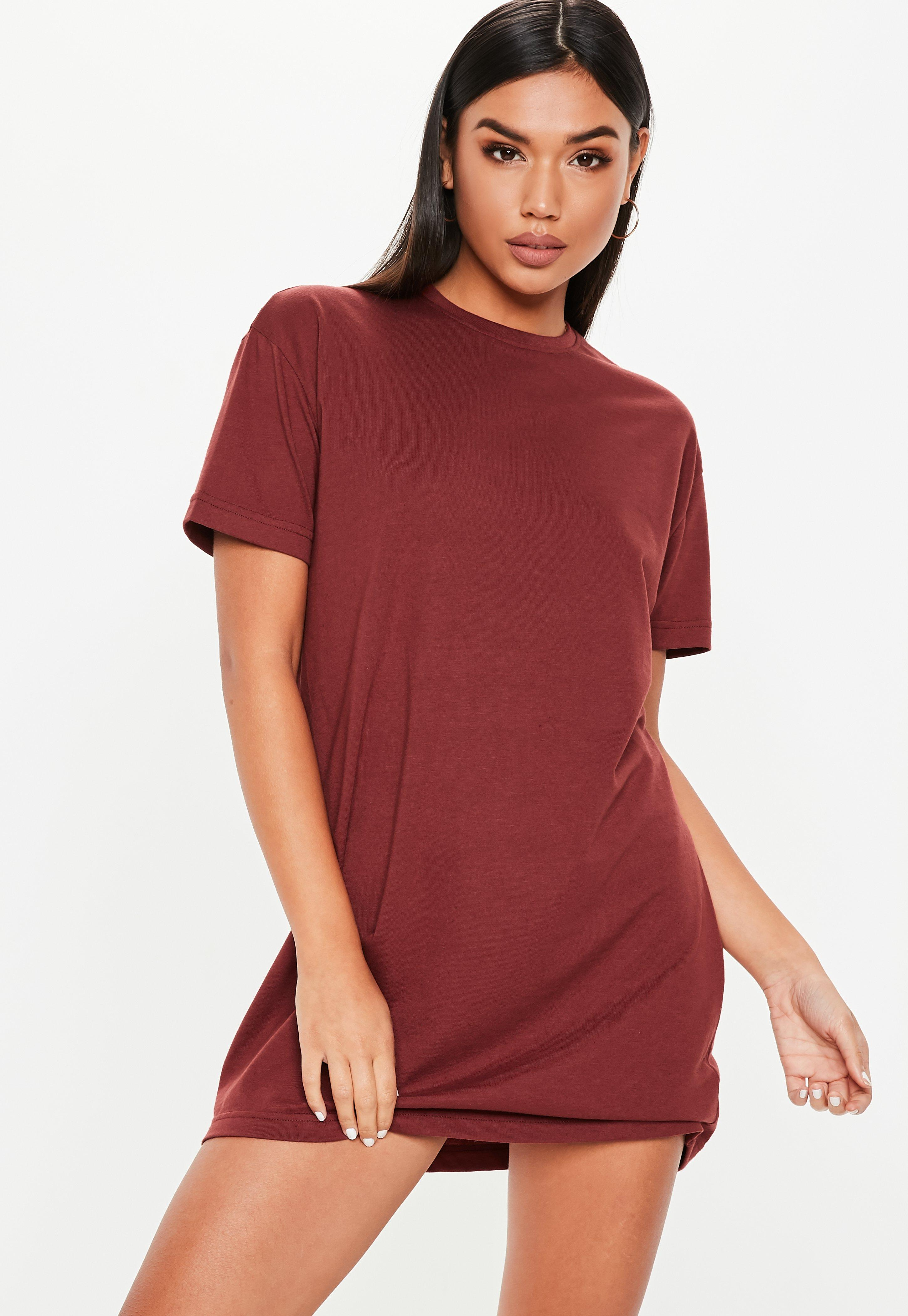T Shirt Dresses Printed Slogan T Shirt Dresses Missguided