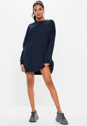 151288818d1 Robe-sweat courte bleu marine