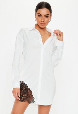 fc87076d76cdc4 White Shirt Dresses