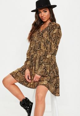 37c936a8ab Snake Print Dresses