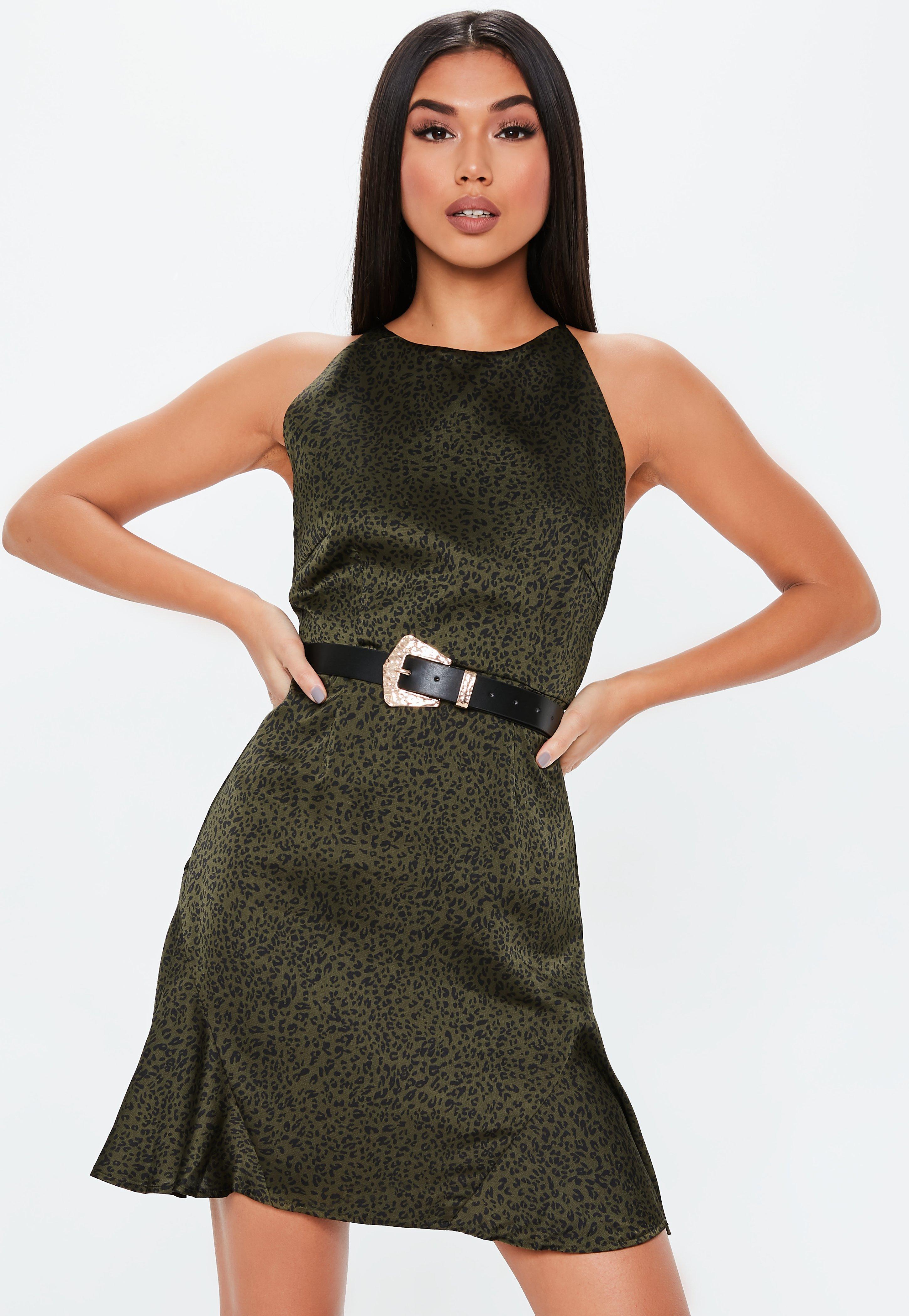 5b11a3ceaf8f Khaki Dresses | Khaki Green Dresses - Missguided