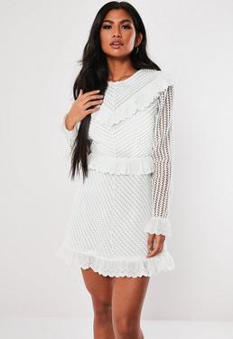 b4a3290ab8a9 ... White Lace Frill A Line Dress