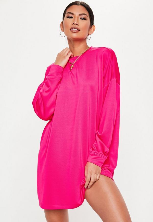 beea43d6d Neon Yellow Oversized Nevada T Shirt Dress | Missguided Australia
