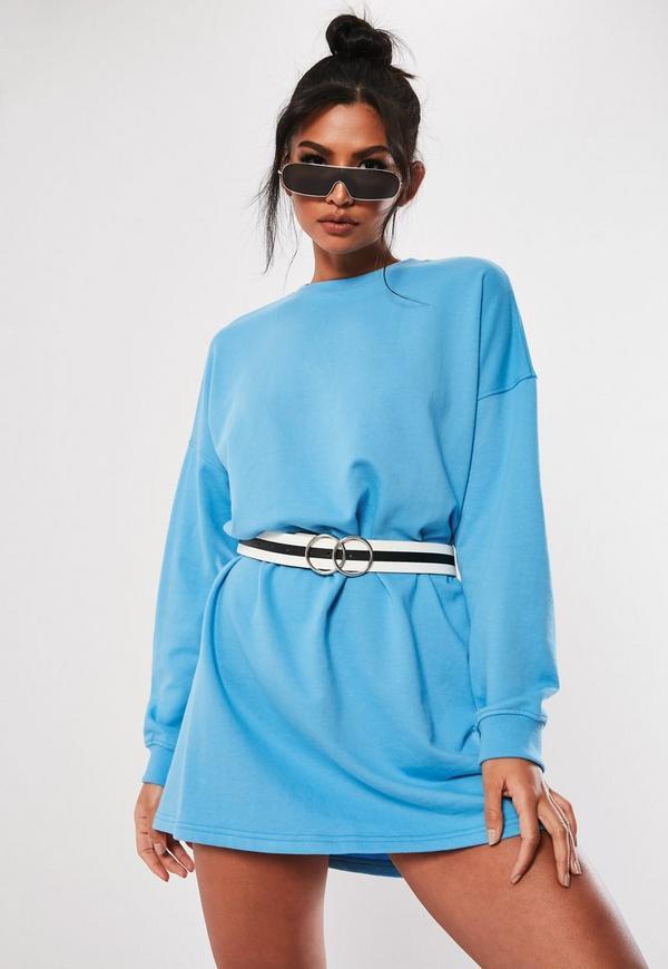 2ba73b5c75 ... Blue Long Sleeve Oversized Sweater Dress. Previous Next