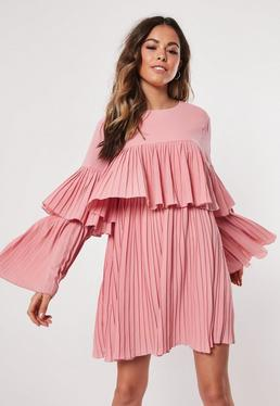 2025fded4fe Pleated Dresses. Square Neck Dresses