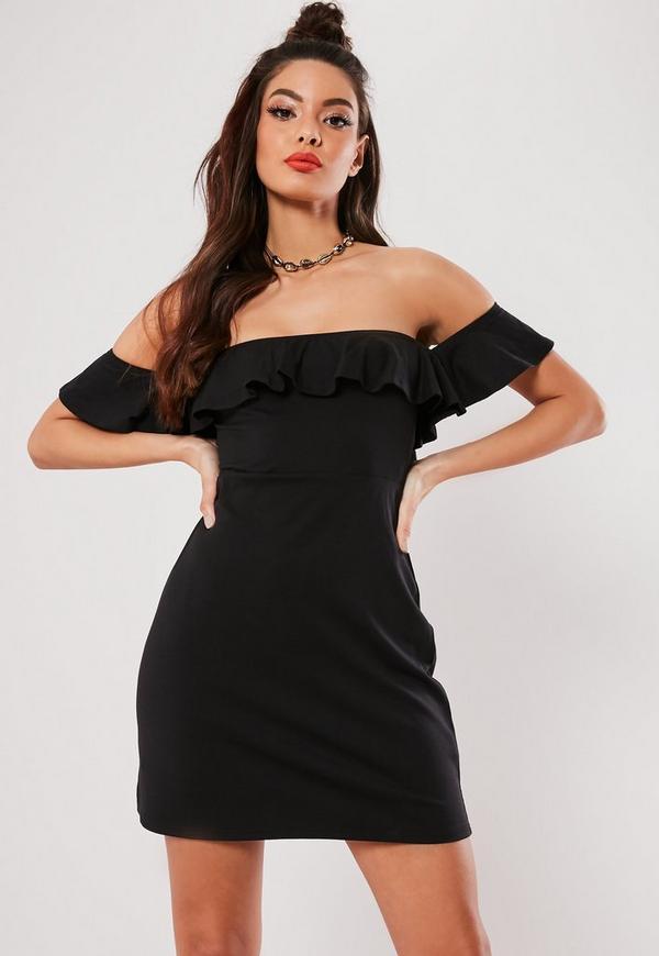 25ce4475c220 ... Black Bardot Frill Skater Dress. Previous Next