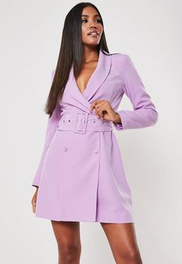 e72fd71d2688 Black Belted Waist Pleated Skater Dress · Lilac Belted Blazer Dress