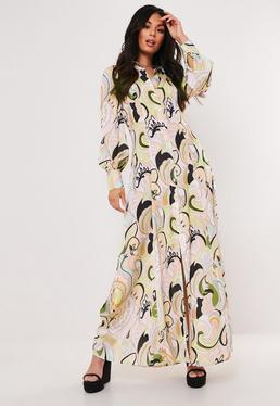 40b62fe7fec ... Multi Paisley Print Maxi Shirt Dress
