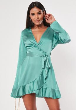 562b33cb Wrap Dresses | Wrap dress & Tie Waist Dresses - Missguided