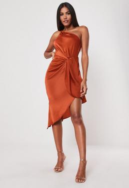 Orange Dresses Burnt Orange Rust Dresses Missguided