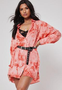 b3d7a9b950 Oversized Shirt Dresses · Tie Dye Shirt Dresses · Pink Tops