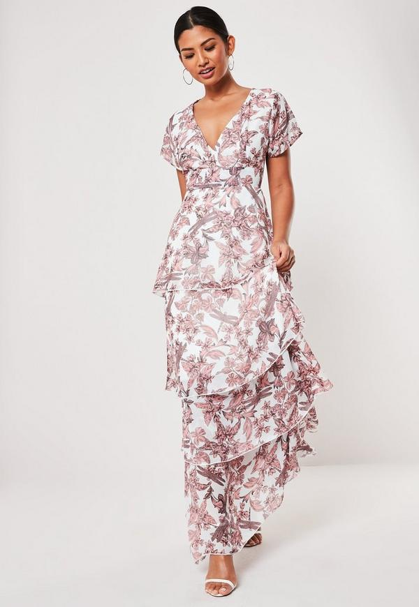 a0621522b11a Pink Paisley Print Side Split Maxi Dress | Missguided Australia