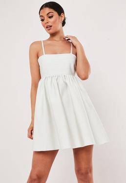 17964e9fa8 ... White Bandage Strappy Mini Dress