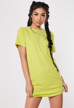 60480b28907b Red Oversized East Coast T Shirt Dress · Lime Cross Back T Shirt Dress