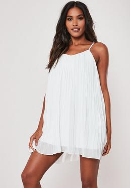 0c8f87f6f84 ... White Strappy Pleated Mini Dress