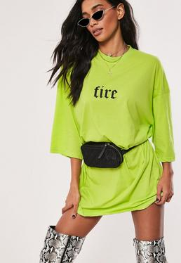 9f02c8b388e4e T-Shirt Dresses | Printed & Slogan Dresses - Missguided
