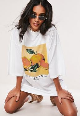 717a0f3bd9a T-Shirt Dresses | Printed & Slogan Dresses - Missguided