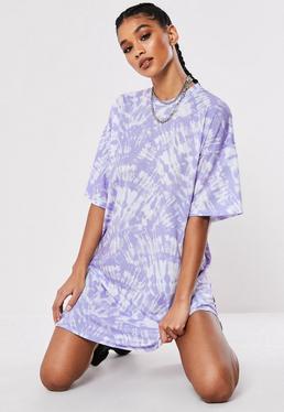 1fca4c10efc5 Lilac Oversized Tie Dye T Shirt Dress