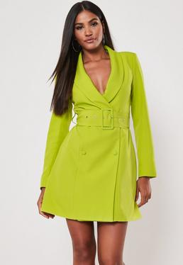 c6f8ec78b13 Lime Belted Blazer Dress