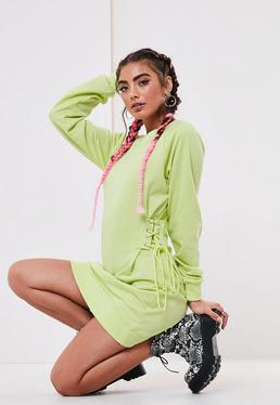 33dcb5718e2 ... Lime Corset Sweater Dress