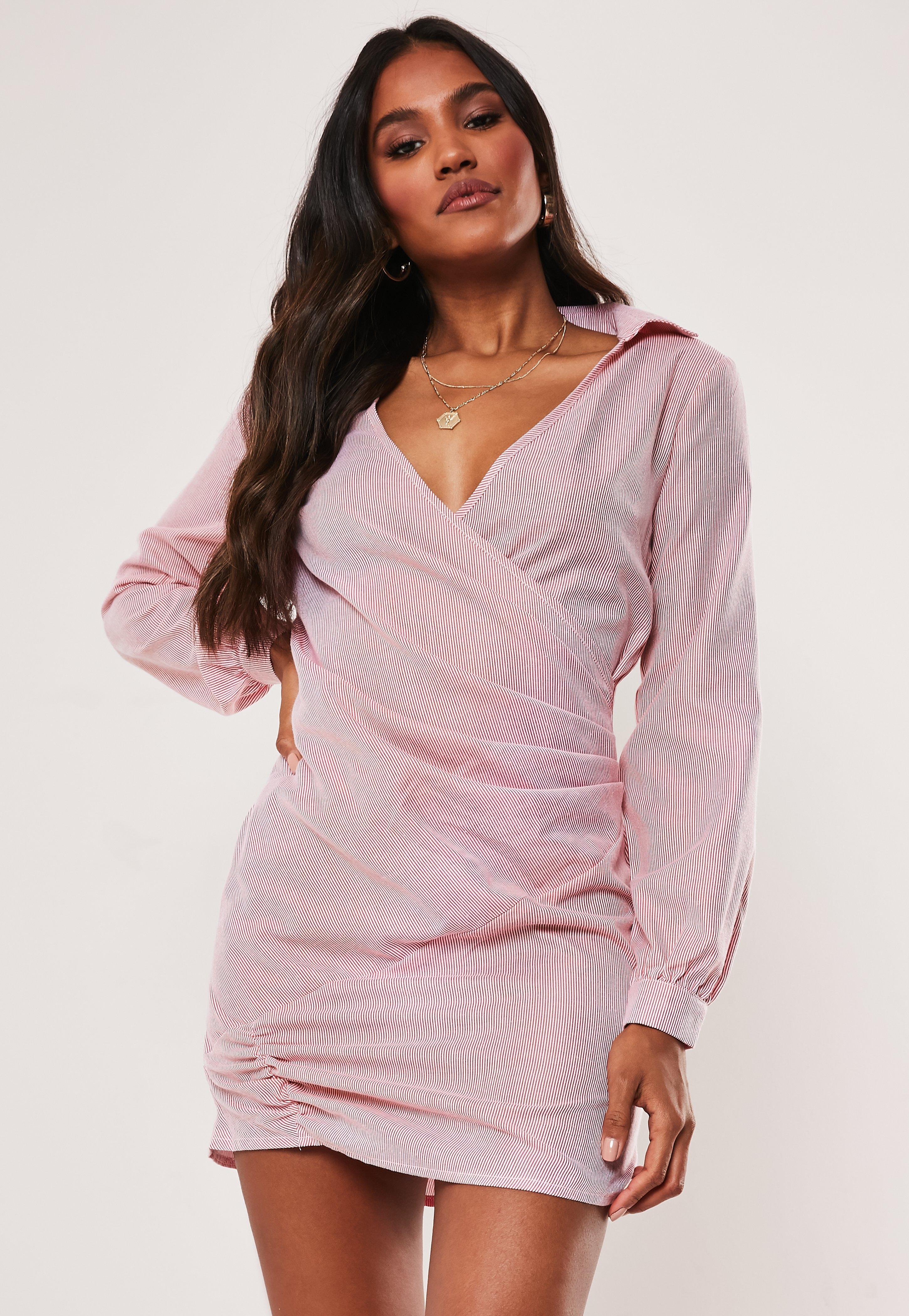 320a948e458583 Wrap Dresses - Wrap Around Dresses | Missguided