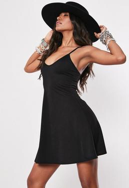 7c0fe16f89bf Black Cami Skater Dress