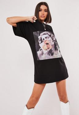 c2128ffd023 T-Shirt Dresses   Printed & Slogan Dresses - Missguided