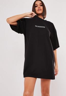 6bb0e349dc T-Shirt Dresses | Printed & Slogan Dresses - Missguided