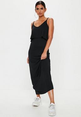 c29c12c3b32 ... Black Overlay Maxi Dress
