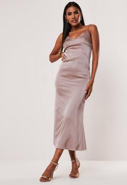 5be95557b779 Satin Dress - Silky Dresses Online | Missguided