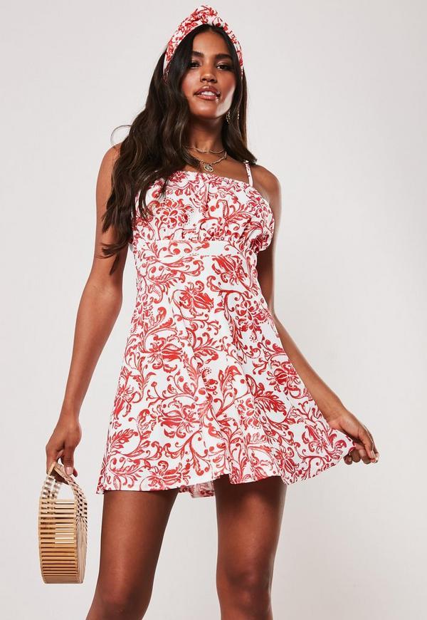 fb7f480675d Black Milkmaid Tie Front bardot Bodysuit. $36.00 · red porcelain print  milkmaid cami skater dress. $24.00 · white ...