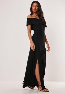 Платье макси с оверлеем Black Bardot