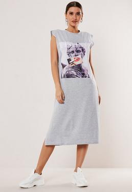 90b43588c017a T Shirt Dresses | Printed & Slogan T-Shirt Dresses - Missguided