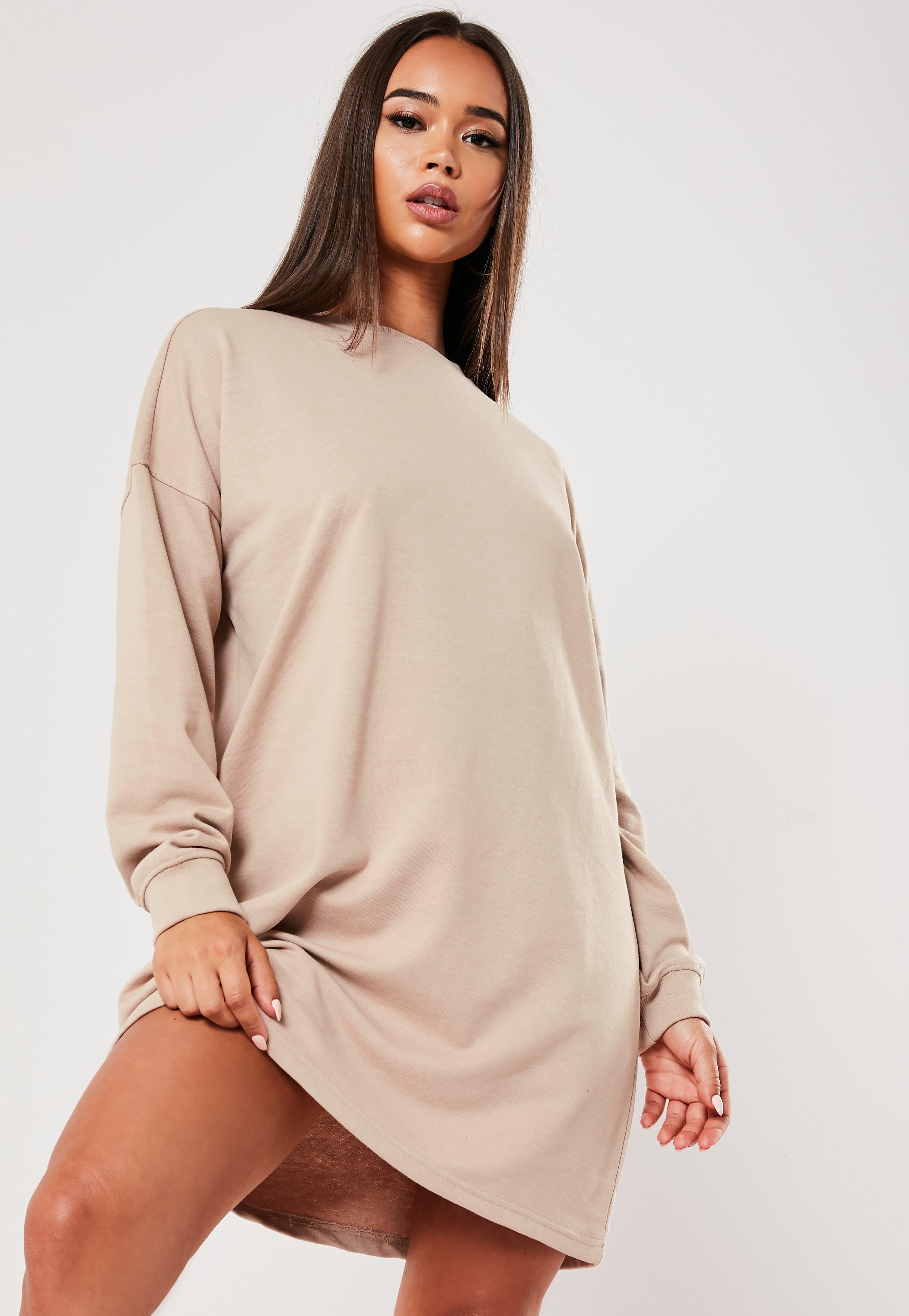 2cb695efa Stone Oversized Sweater Dress