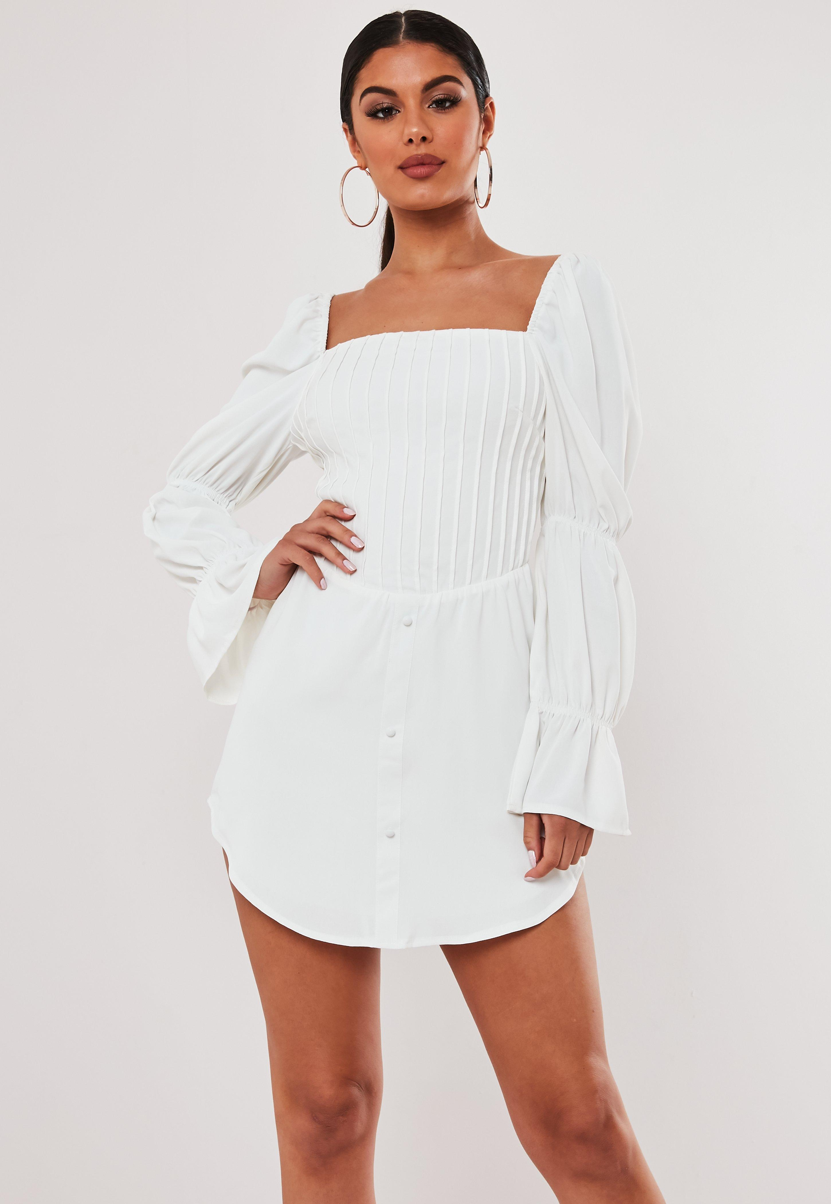 buy popular purchase cheap buy Stassie x Missguided White Corset Bodice Milkmaid Dress   Missguided
