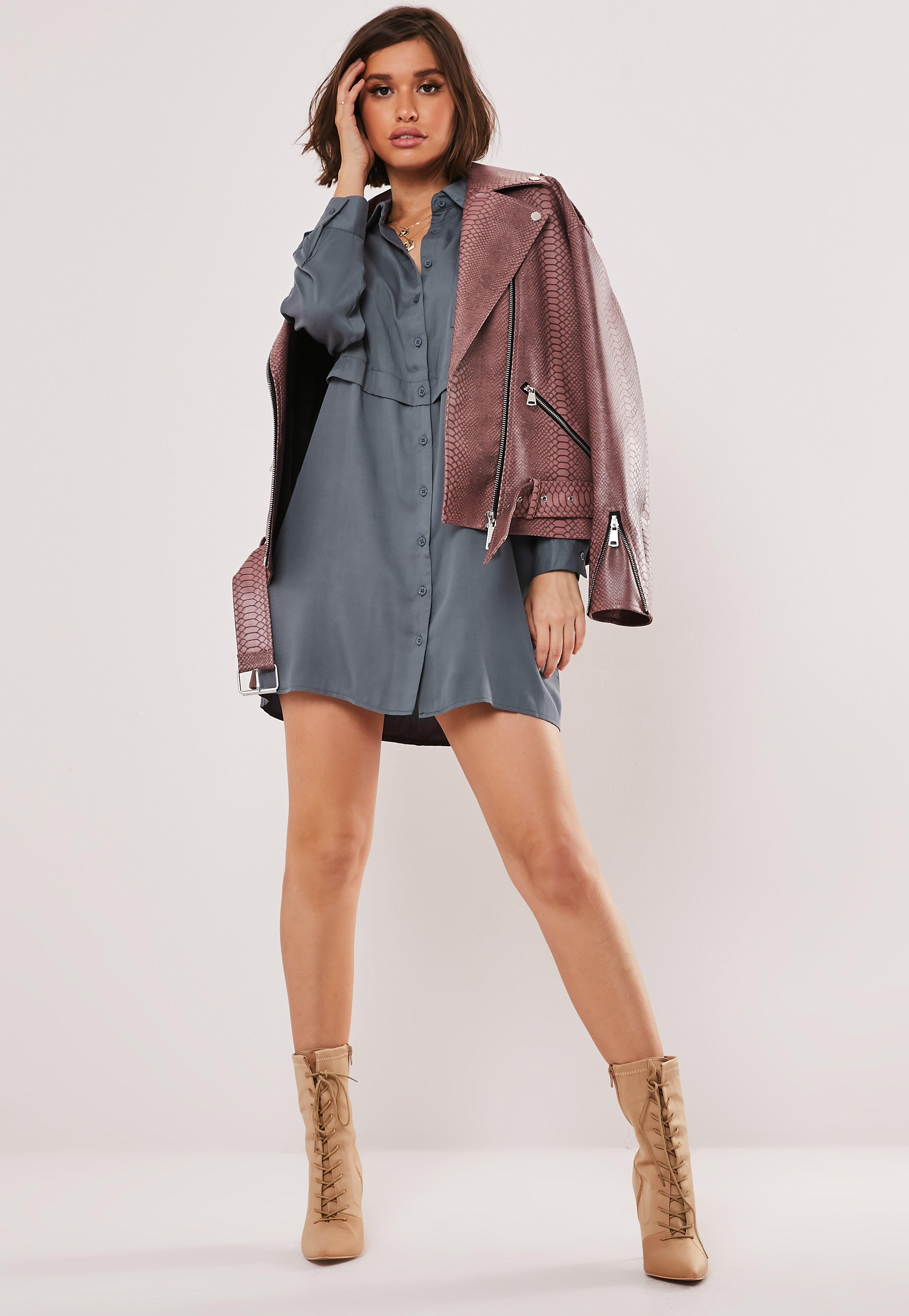 eb7b2247 Blue Utility Shirt Dress