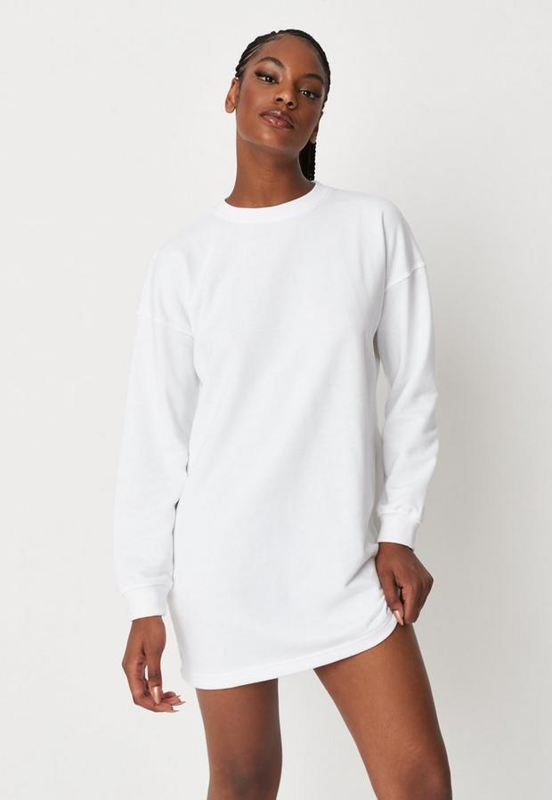 Robe Sweat Oversize Blanche Basique