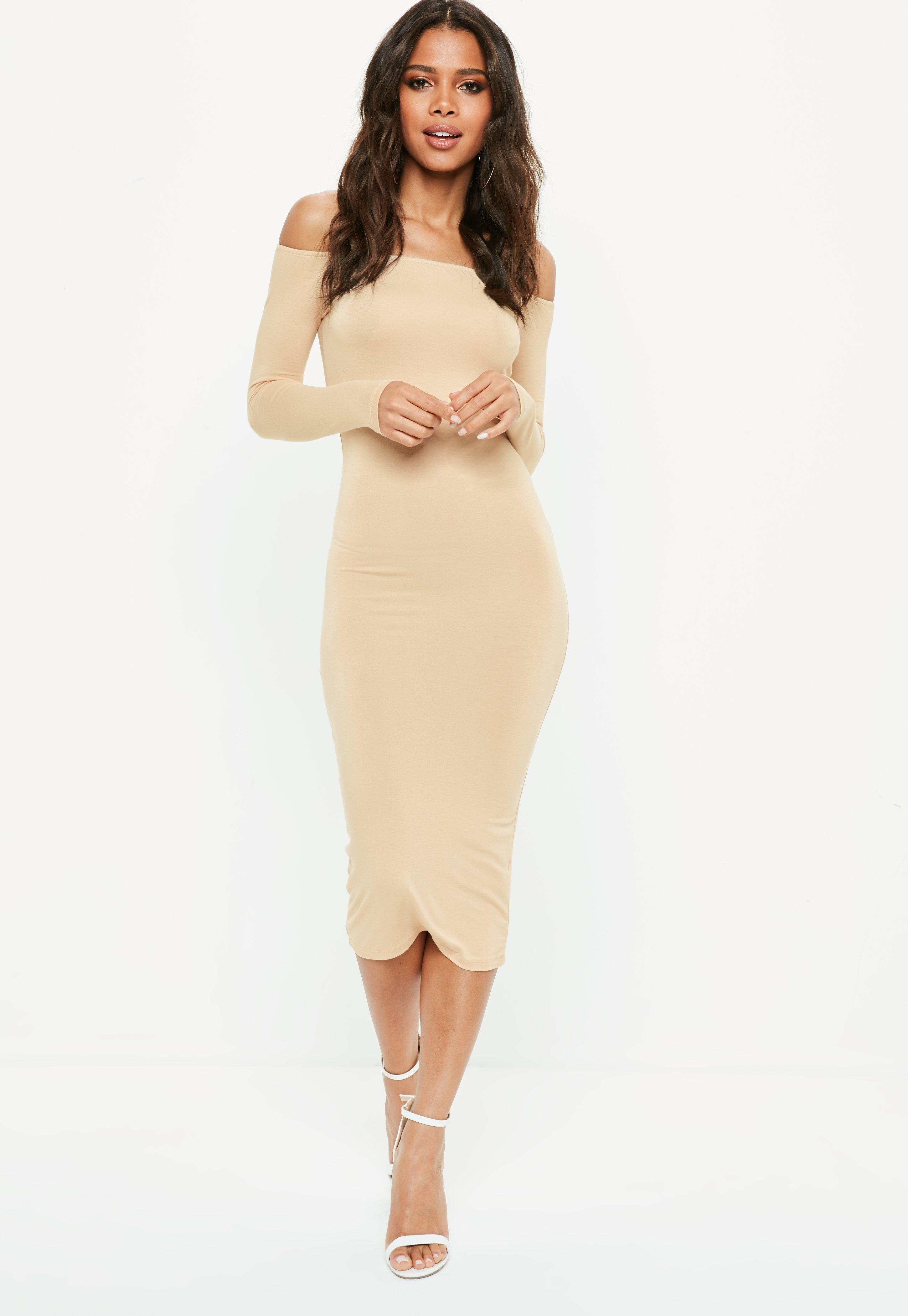 Missguided Tall T-shirt à manches longues - nude gIaW8FPWH