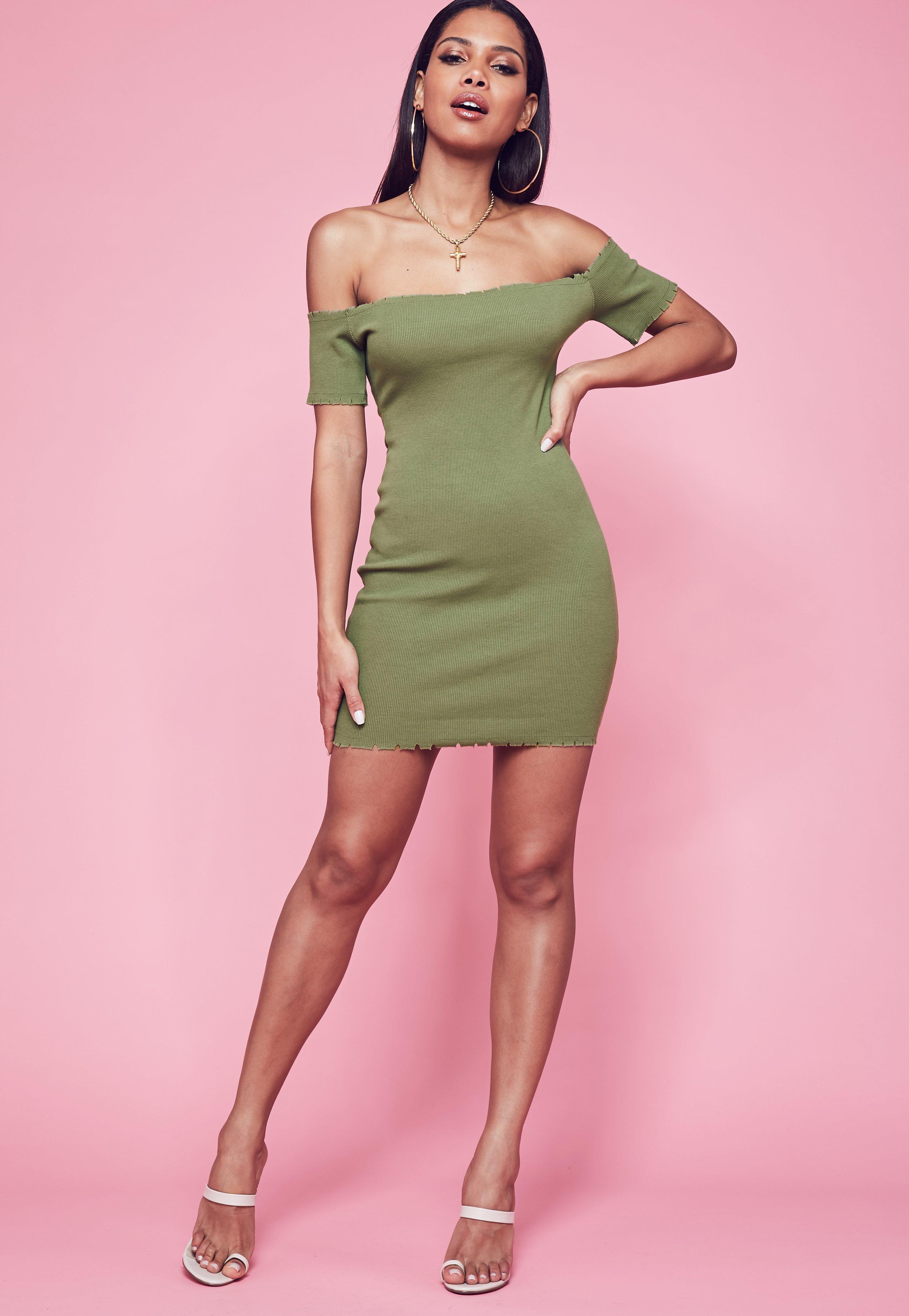 Khaki Dresses | Khaki Green Dresses - Missguided