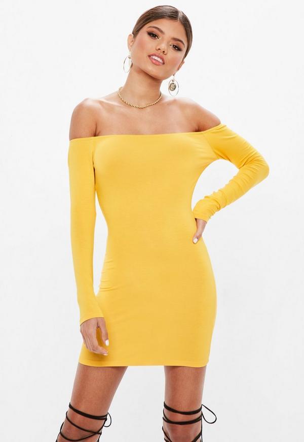 Jumia yellow and white bodycon dress images