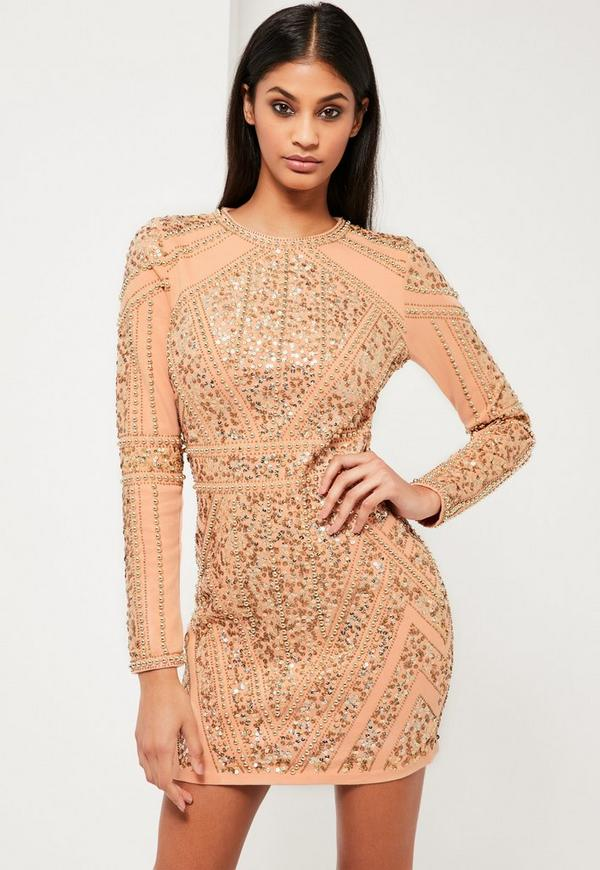 Gold Embellished Dress