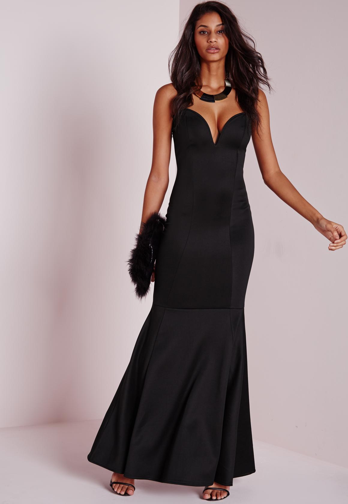 Sweetheart Neck Maxi Dress Black | Missguided Ireland
