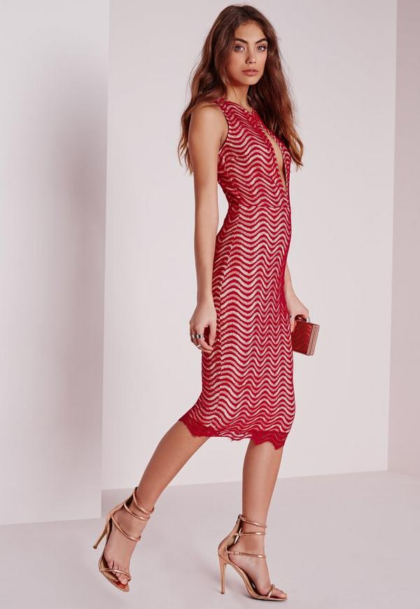 Keyhole Lace Dress