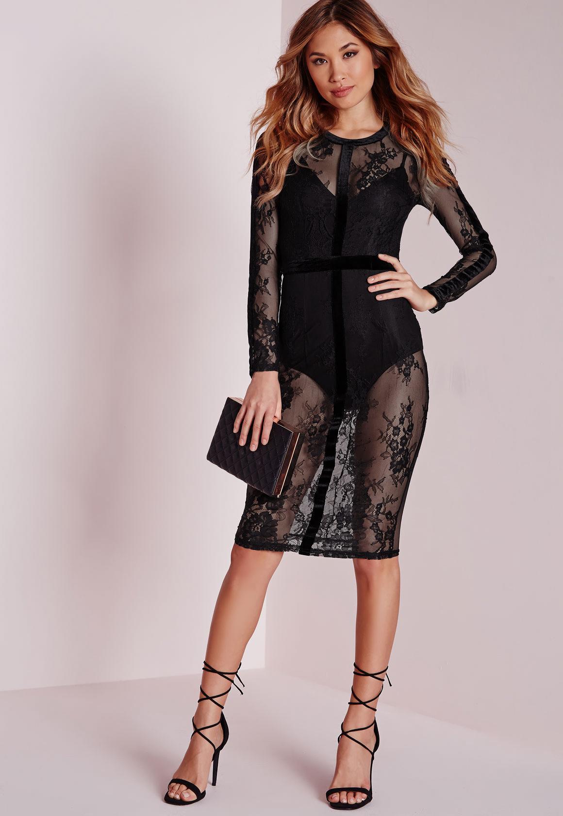 Lace velvet dress next