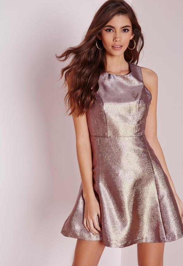 Glitter Skater Dress Multi